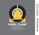 Wheel Clamp Side View Vector...