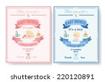baby shower invitation ... | Shutterstock .eps vector #220120891