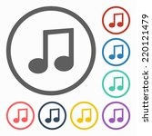 music note icon   Shutterstock .eps vector #220121479