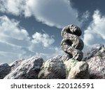 paragraph symbol rock under... | Shutterstock . vector #220126591