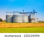 Industrial Silos Under Blue Sky ...