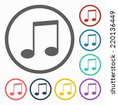 music note icon   Shutterstock .eps vector #220136449