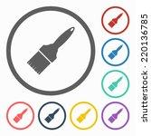 paintbrush icon | Shutterstock .eps vector #220136785
