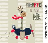 Giraffe Pilot Vector...