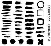 black blobs set   Shutterstock . vector #220138699