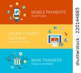 online payment concept flat...