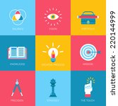 flat icons set creative... | Shutterstock .eps vector #220144999