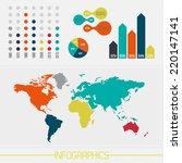 detail infographic vector... | Shutterstock .eps vector #220147141
