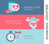 medical care diagnostics sports ... | Shutterstock .eps vector #220147405