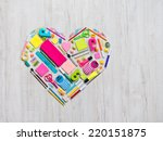 Colorful Heart Shape Composed...