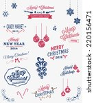 christmas vector elements ... | Shutterstock .eps vector #220156471