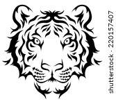 tigers head tribal tattoo...   Shutterstock .eps vector #220157407
