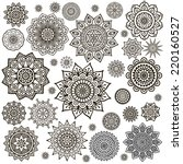 mandala. round ornament pattern.... | Shutterstock .eps vector #220160527