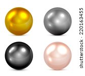 Set Of Metallic Spheres And...
