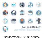 set of flat style icons. mobile ...