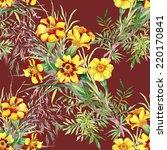 wild flowers seamless pattern...   Shutterstock .eps vector #220170841