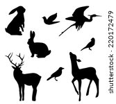 forest animals silhouette set.... | Shutterstock .eps vector #220172479