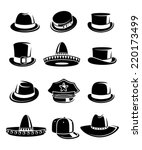 hats collection set. vector | Shutterstock .eps vector #220173499