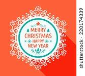 merry christmas frame template  ... | Shutterstock .eps vector #220174339