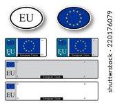 european union auto set against ... | Shutterstock .eps vector #220176079