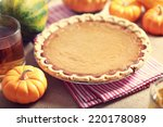 Pumpkin Pie With Small Pumpkin...