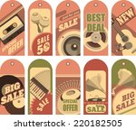 set of price tags with...