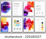 set of vector poster templates... | Shutterstock .eps vector #220183327