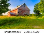 Weathered Old Red Barn In A...