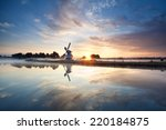 Sunrise Over Dutch Windmill An...