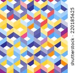 abstract geometric seamless... | Shutterstock .eps vector #220185625