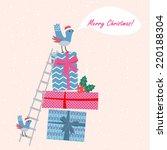 vector christmas background... | Shutterstock .eps vector #220188304