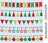 christmas background with... | Shutterstock .eps vector #220191259