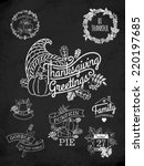 vector chalkboard collection of ... | Shutterstock .eps vector #220197685