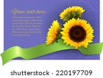 Card With Sunflowers Green...