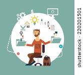 designer illustration | Shutterstock .eps vector #220201501