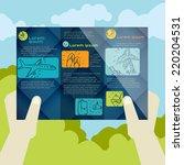 flat design  brochure template. ...