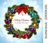 merry christmas and happy new... | Shutterstock .eps vector #220206181