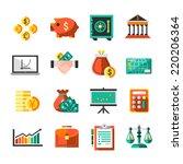 finance banking business money... | Shutterstock .eps vector #220206364