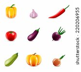 food vegetables realistic set... | Shutterstock .eps vector #220206955