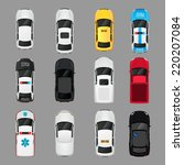 cars transport top view icons... | Shutterstock .eps vector #220207084