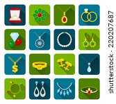 jewelry icons set of expensive... | Shutterstock .eps vector #220207687