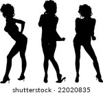 three cute sexy women dancing... | Shutterstock . vector #22020835