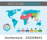 world religions infographic... | Shutterstock .eps vector #220208641