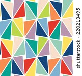 seamless vector geometric... | Shutterstock .eps vector #220213495