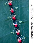 crew team in competition | Shutterstock . vector #220218619