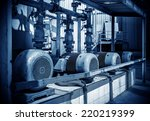 thermal power plant workshop... | Shutterstock . vector #220219399