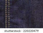 close up shot of raw denim dark ... | Shutterstock . vector #220220479