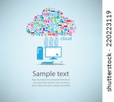 template design computer idea... | Shutterstock .eps vector #220223119
