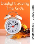 daylight savings time ends in... | Shutterstock . vector #220223881