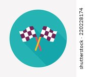 racing flags flat icon with... | Shutterstock .eps vector #220228174